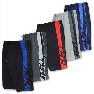 Men's Athletic Performance Shorts w/ Pockets 5pk L